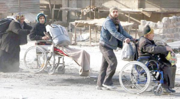 Masses of People Leave Eastern Aleppo