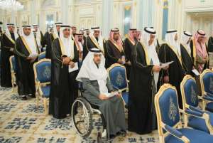 In front of the Custodian of the Two Holy Mosques, Speaker of Shura Council and Council's members are sworn in (SPA)