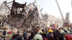 Site of the Plasco collapse in Tehran, Iran