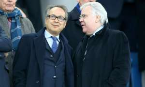 New Everton majority shareholder Farhad Moshiri, left, purchased 49.9% of the club in March but Bill Kenwright remains on the board.