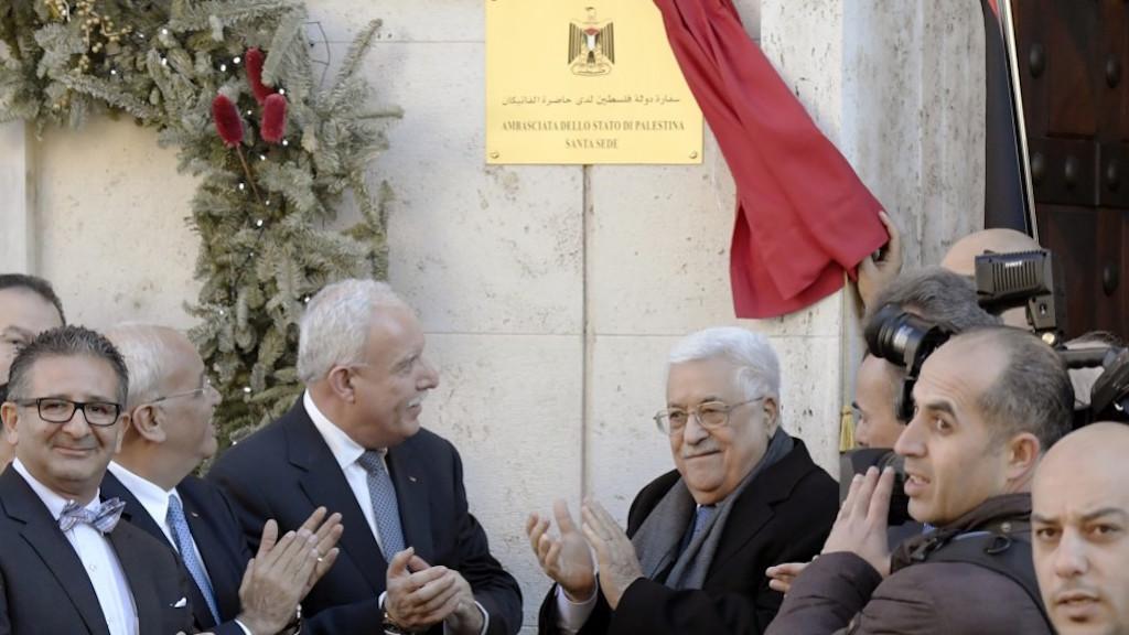Palestinian President Opens Embassy in Vatican