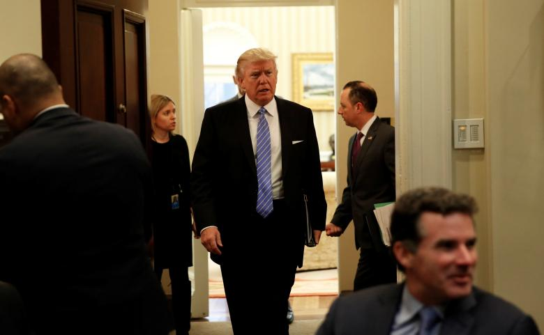 Donald Trump in First Week at The Oval Office