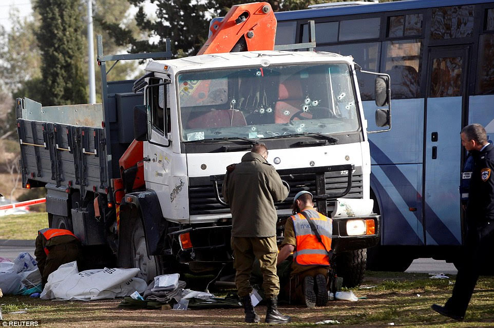 Four Israeli Soldiers Killed as Palestinian Rams Truck into Pedestrians