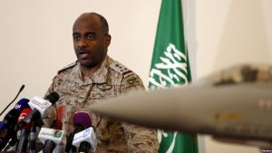 Official spokesman for the Saudi Ministry of Defense Maj. General Ahmed Hassan al-Assiri.