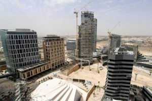 A view shows the construction of the King Abdullah Financial District in Riyadh, Saudi Arabia May 12, 2016. REUTERS/Faisal Al Nasser