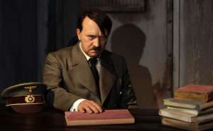 A waxwork of Adolf Hitler before a 41-year-old man tore its head off from the controversial exhibit on the opening day of Berlin's Madame Tussauds July 5, 2008 is seen in this July 3, 2008 file photo. (TOBIAS SCHWARZ / REUTERS)