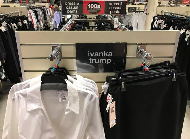 U.S. Stores Stop Promoting Ivanka Trump's Products