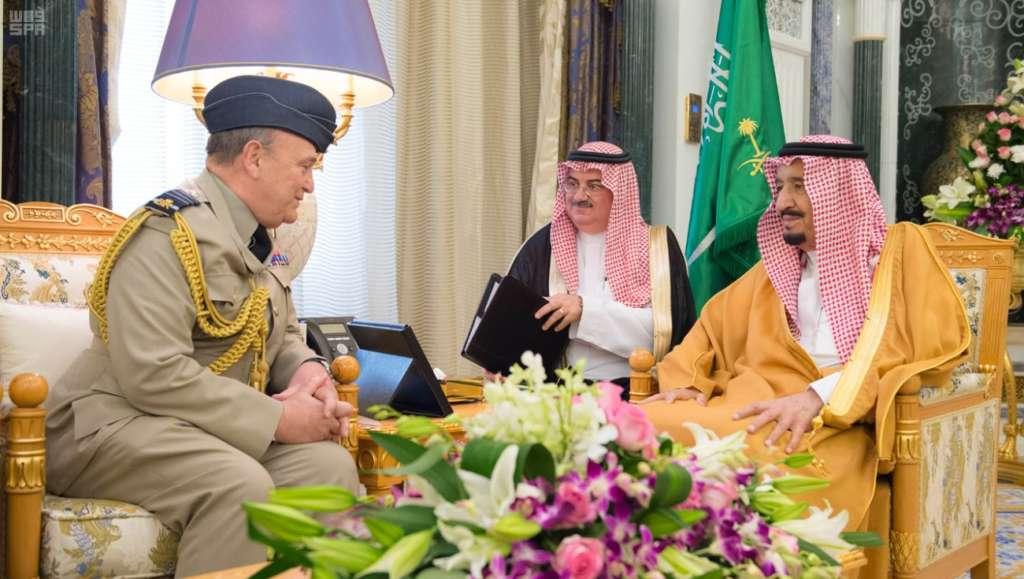 King Salman Receives Chief of British Defense Staff