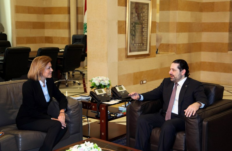 Spain's Defense Minister Meets Hariri, Visits Spanish UNIFIL Unit