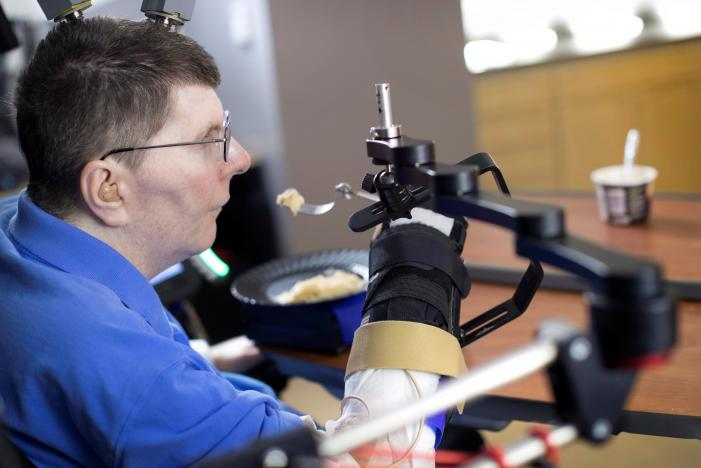 New Scientific Achievement: Implants Help Paralyzed Man Feed Himself Using His Thoughts