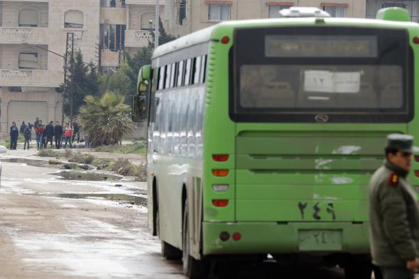 Biggest War Evacuation Out of One Syrian District Begins