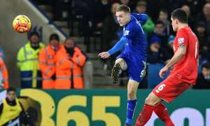 Jamie Vardy scores from long range against Liverpool in Leicester's title-winning season – but how did that tally with the xG?