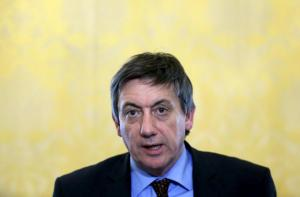 Belgium's Interior Minister Jambon addresses a news conference in Brussels