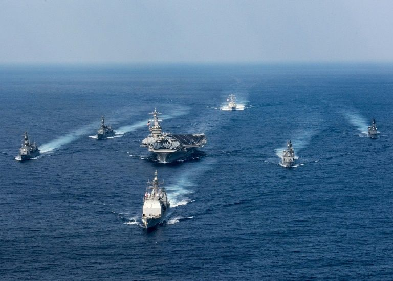 North Korea 'Ready for War' as US Deploys Naval Strike Group to Peninsula