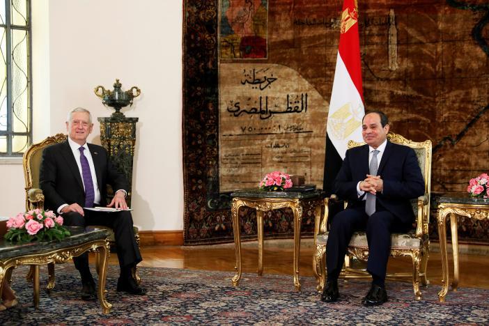 US Defense Secretary Mattis Pledges Support for Egypt's Sisi