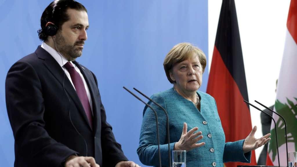 Hariri, Merkel Discuss Syrian Refugee Crisis