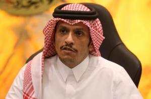 Qatar's Foreign Minister Sheikh Mohammed bin Abdulrahman al-Thani attends an interview with Reuters in Doha