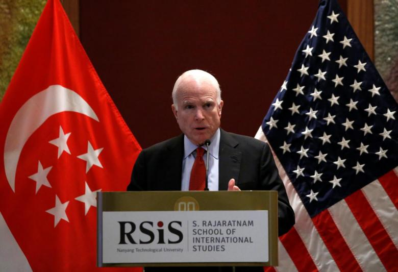 John McCain to Asharq Al-Awsat: We Will Work on Removing Assad, Defeating ISIS Simultaneously
