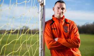 Dan Westwood of Wolverhampton Sporting has scored over 100 goals for the club in just over a year and is now being scouted by league clubs. Photograph: Fabio De Paola for the Guardian