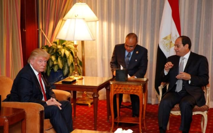 Trump to Sisi: We are Very Much Behind Egypt