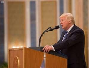 Trump during the Arab-Islamic-American Summit in Riyadh