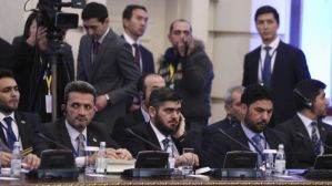The Syrian opposition delegation attended talks in Astana in January