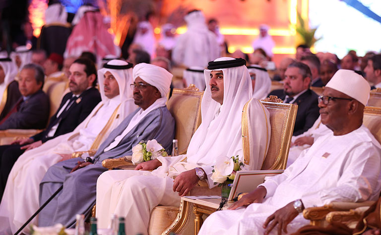 Qatar Emir Urges Dialogue to Settle Regional Conflicts