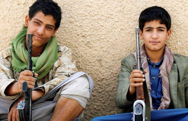 Saleh-Houhi Insurgents Accused of Recruiting 15,000 Children in Yemen