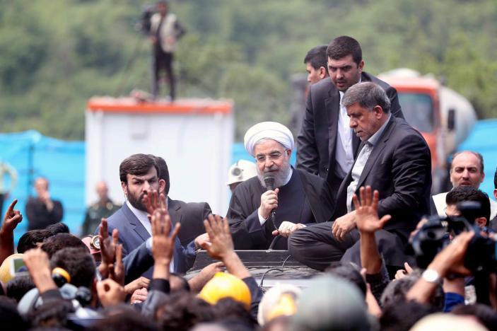 Iran's Rouhani Defends Mousavi, Calls Conservative Rivals 'Violent Extremists'