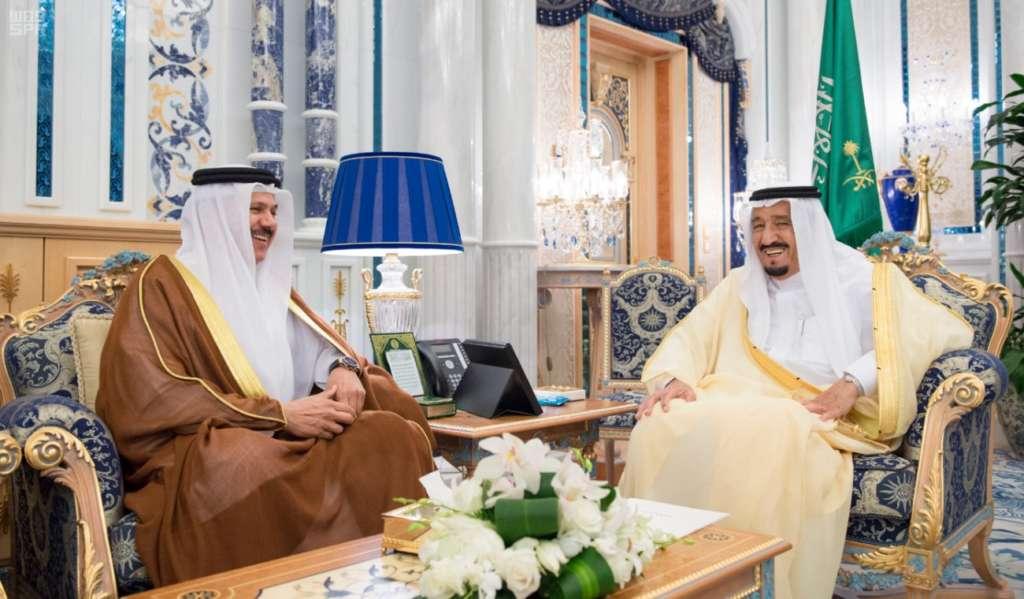King Salman Receives GCC Chief