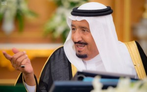 Custodian of the Two Holy Mosques King Salman bin Abdulaziz chairs a cabinet session on June 12. (SPA)