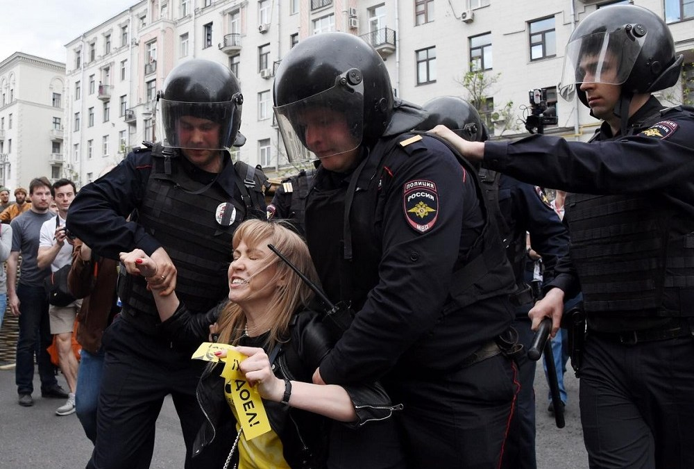 Moscow Dismisses US Calls to Release Russian Protesters