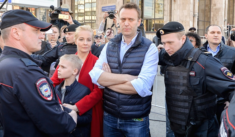 Putin Critic Navalny Arrested Minutes before Mass Moscow Rally