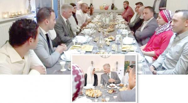 Belgian King Shares Iftar with Muslim Family