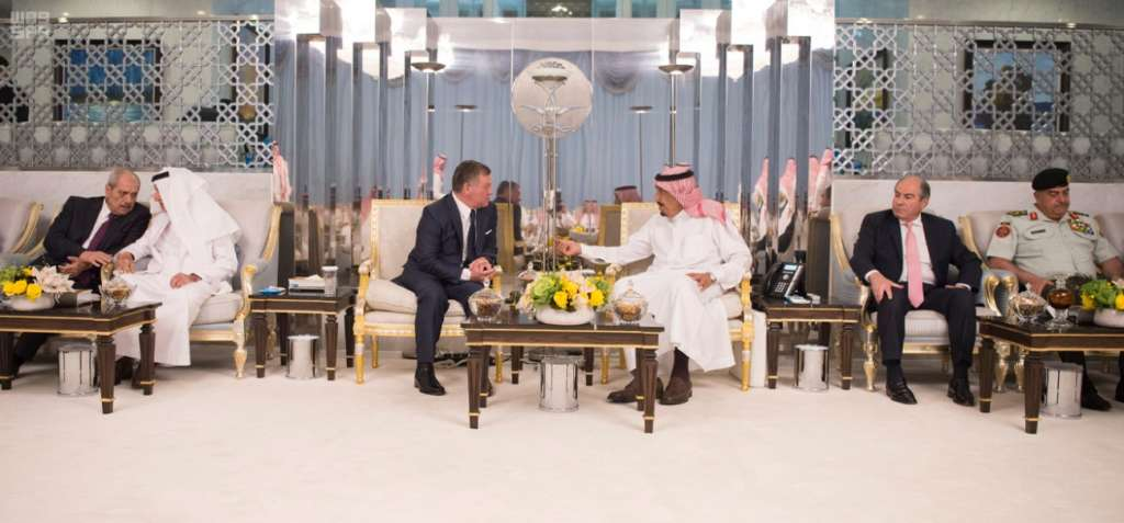 Custodian of the Two Holy Mosques Receives King of Jordan