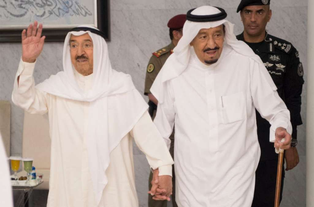 Custodian of Two Holy Mosques, Kuwaiti Emir Discuss Latest Regional Developments