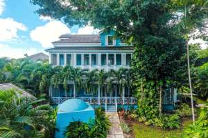 This three-story villa is in the gated Old Fort Bay community, on the northwest coast of New Providence, the most populous island in the Bahamas. The house is on the market for $2,395,000; Damianos Sotheby's International Realty is the listing broker. CreditDamianos Sotheby's International Realty