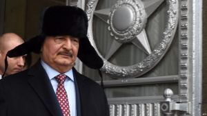 Commander of the Libyan National Army Field Marshal Khalifa Haftar (AFP)