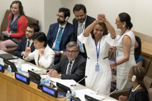 122 Nations Adopt First Treaty Banning Nuclear Weapons