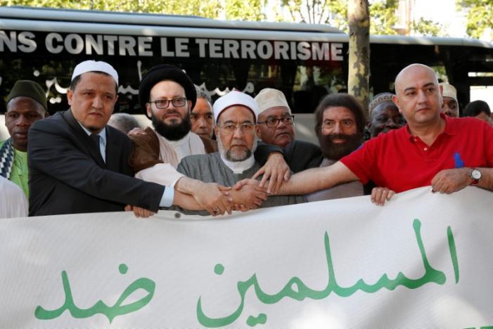 Muslim Imams March Against Terrorism in Europe