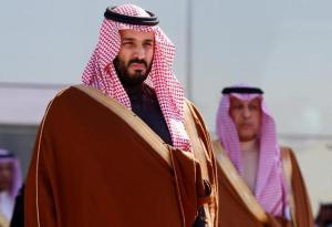 Saudi Crown Prince Mohammed bin Salman attends a graduation ceremony and air show marking the 50th anniversary of the founding of King Faisal Air College in Riyadh