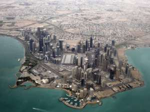 An aerial view shows Doha's diplomatic area March 21, 2013. Reuters