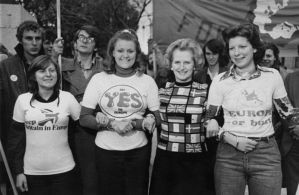 : Before Thatcher had second thoughts. Photographer: P. Floyd/Daily Express/Hulton Archive/Getty Images