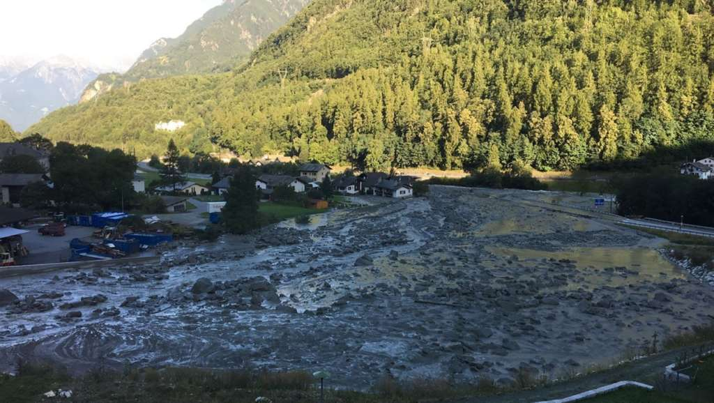Up to 14 People Missing after Landslide in Swiss Alps