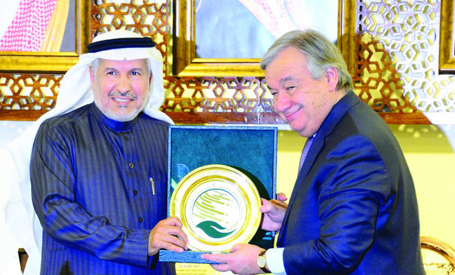 King Salman Relief Center Supervisor Meets UN Secretary General