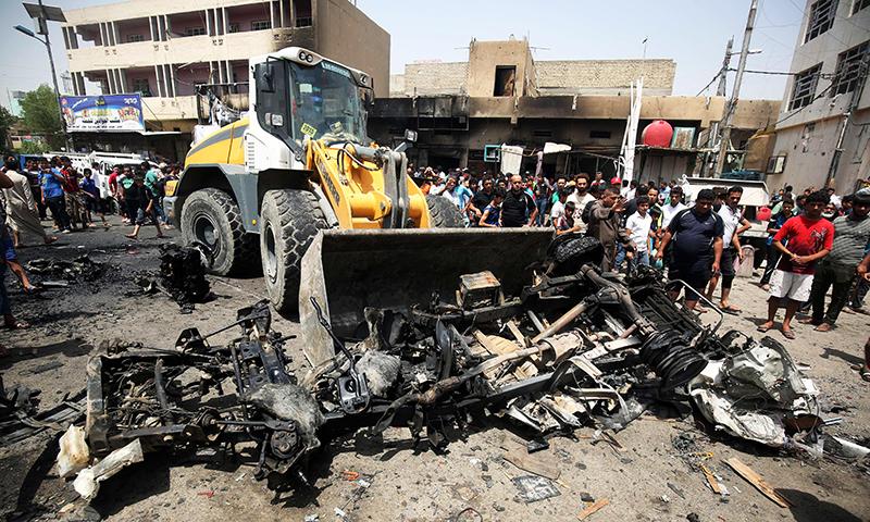 Bomb-Laden Car Kills At least 10 in Baghdad Market