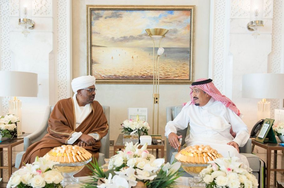 Custodian of the Two Holy Mosques Meets with Sudan President