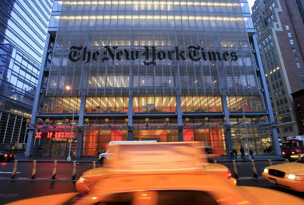 A Day with The New York Times