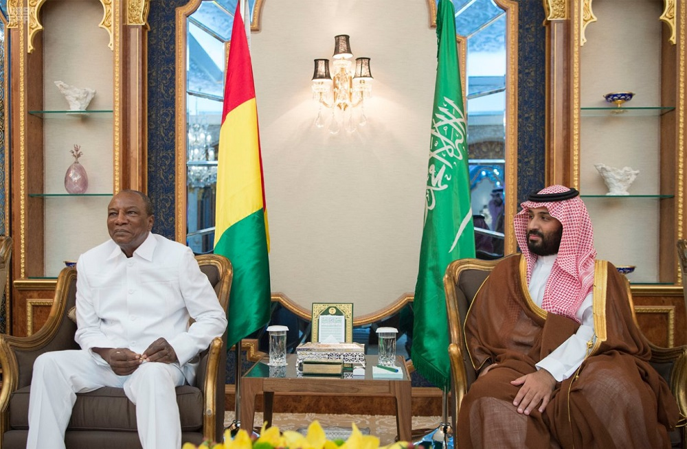 Vice Custodian of the Two Holy Mosques Meets with Guinea President