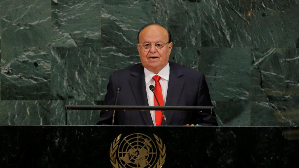 Hadi: We have Exhausted Peaceful Means to Prevent Rebels from Implementing Iran's Agenda